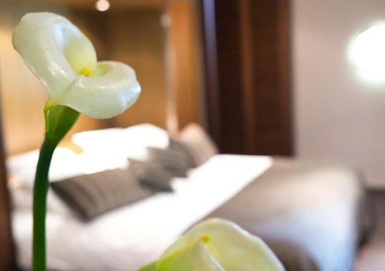 Hotel Beau Rivage : Un lit confortable