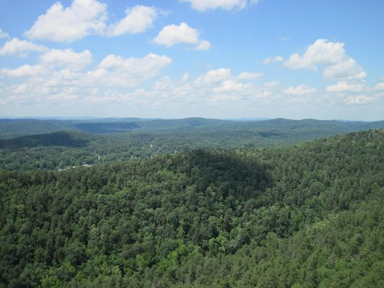 Hot Springs Mountain Tower: View from the tower