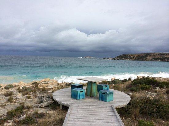 Southern Ocean Lodge: down the path