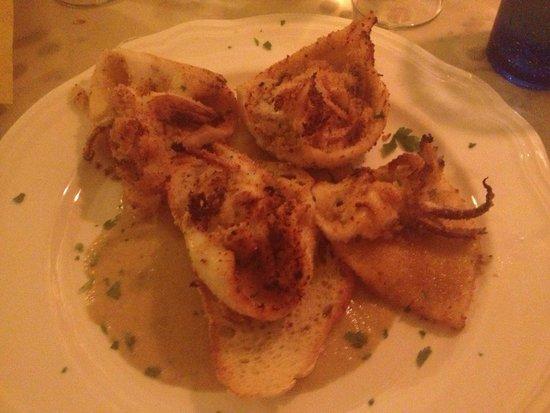Osteria Pazza Idea: Calamari gratinati