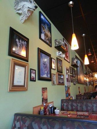 Wolf's Den Restaurant: Wolf's Den Wall