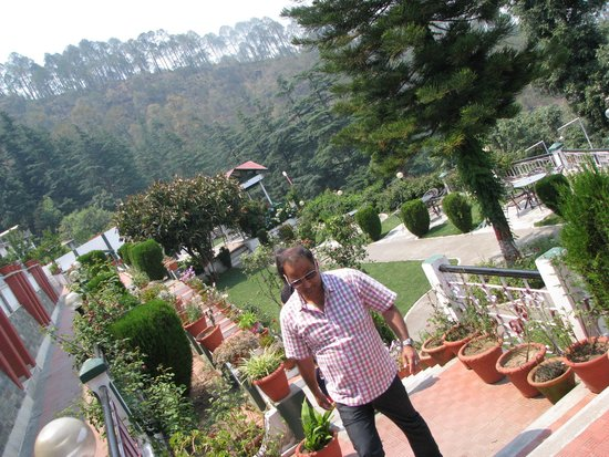 Krishna Mountview Mountain Resort: the garden view