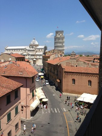 View from room at Grand Hotel Duomo Pisa