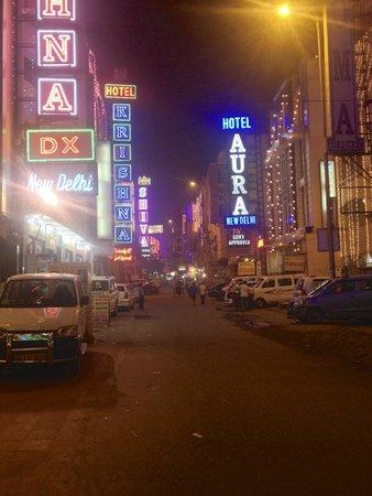 Hotel Krishna: Улица, на которой расположен отель