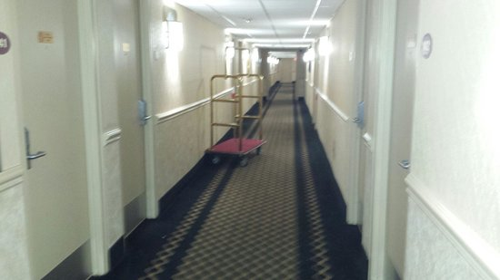 Ramada Newburgh/West Point: The hotel smelled like sewer.
