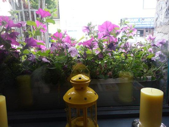 Connemara Greenway Café & Restaurant: beautiful flower boxes