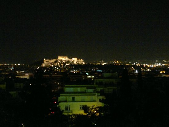 Saint George Lycabettus: View from balcony at night