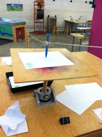 Pensacola MESS Hall: A pendulum drawing.