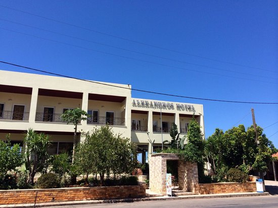 Alexandros : The front of the hotel