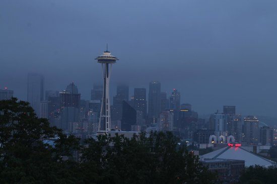 Rainy View from Kerry Park