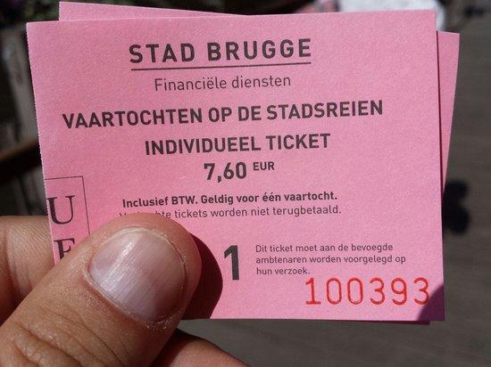 Boottochten Brugge: Biglietto per giro canali di Bruges