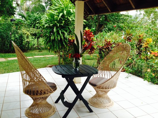 Firefly Beach Cottages: Our porch
