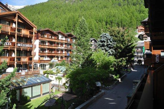 Romantik Hotel Julen : View from the main balcony