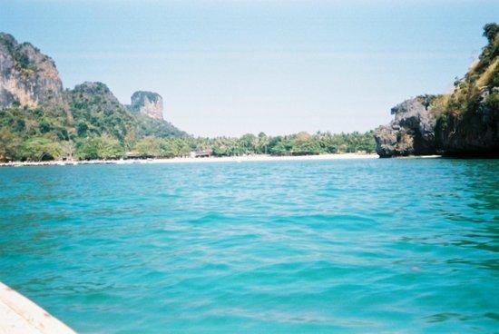 Railay beach from sea