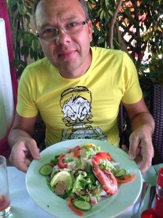 Atlas : салат с морепродуктами