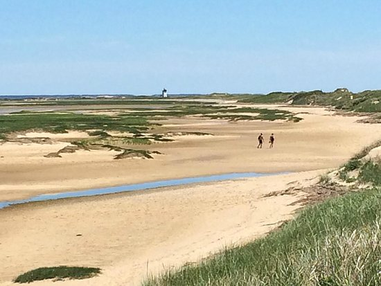 Cape Cod National Seashore: Land's End Lighthouse across the dunes from Herring Cove Beach