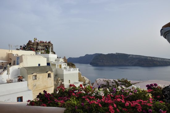 Kastro Oia Restaurant: View from Kastro's