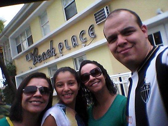 Beach Place Hotel: Despedindo do hotel...