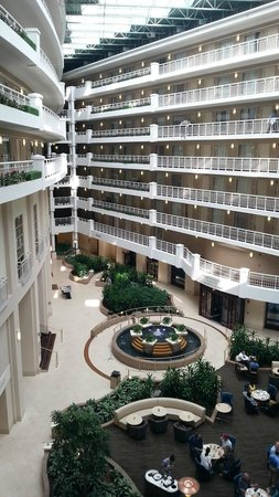 Embassy Suites by Hilton Alexandria-Old Town : Atrium inside Embassy Suites Alexandria