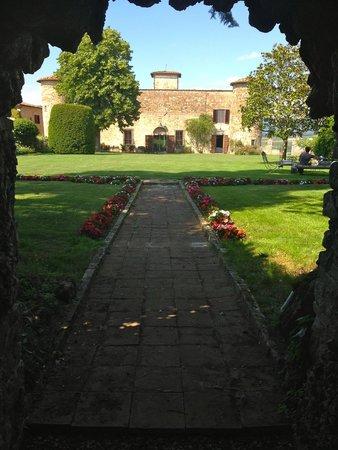 Castello di Gabbiano: View from grotto in gardens