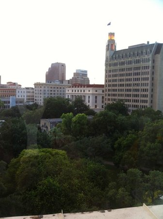 Crockett Hotel: View from the 7th floor Driscoll Suite