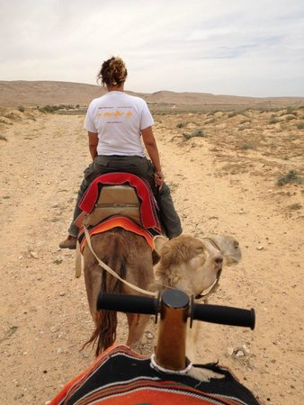Negev Camel Ranch: I was directly behind the guide