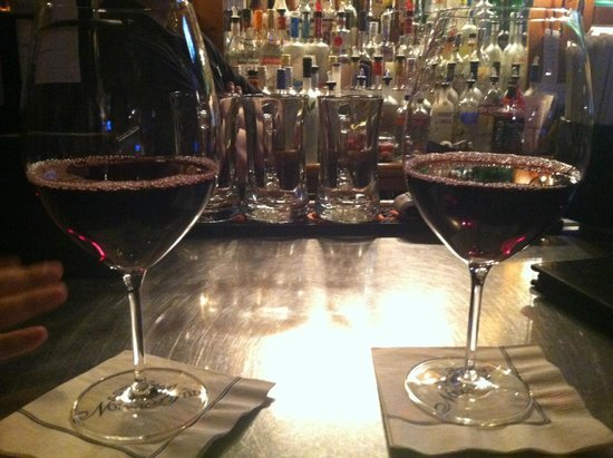 The Spa at Norwich Inn: Having wine at the pub in the lobby- very generous pours!