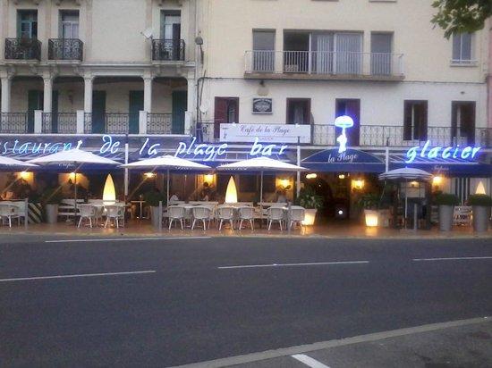 Restaurant de la Plage: agréable terrasse