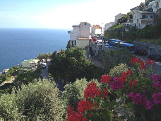 Il Pavone: Blick vom Balkon unseres Zimmers
