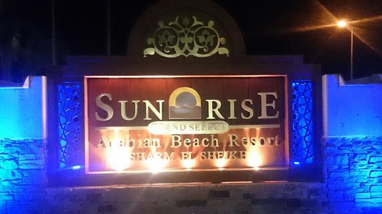 Sunrise Grand Select Arabian Beach Resort : вывеска
