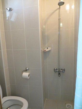 Vardar Family Pension : Baño muy pequeño