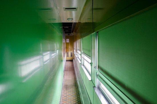 Cranbrook History Centre : A modern train car hallway