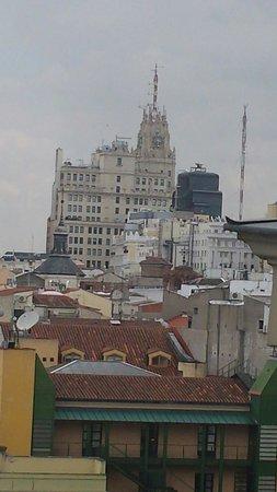 Tryp Madrid Centro Hotel : Vista desde terraza piso 10