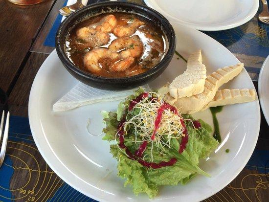 Hotel Fauna: Prato delicioso com camarão e molho de especiarias nativas