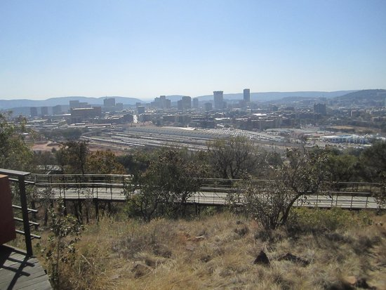 view of Pretoria from Freedom Park