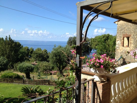Bed & Breakfast Nefer: Blick von der Terrasse