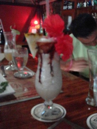 The Bonefish Grille at the Singing Sands Inn: Refreshing Tropical Drink