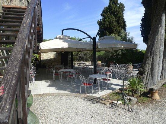 Tenuta di Ricavo: Terraza exterior del restaurante