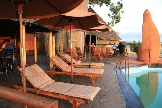 Rift Valley Photographic Lodge: Liegen Am Pool