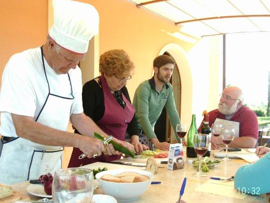 Villa Lestra: Cooking class at the villa