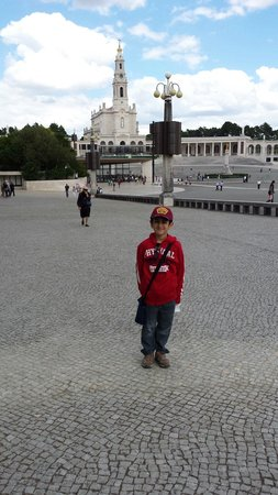 Shrine of our Lady of the Rosary of Fatima: My son at the Basilica de Fatima