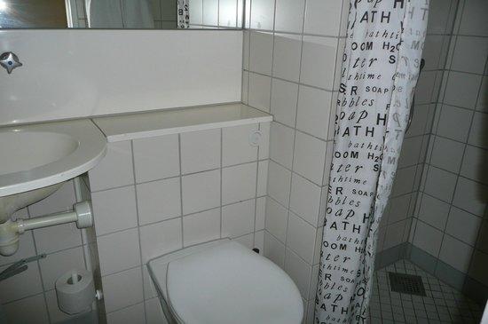 Copenhagen Star Hotel : Old and tiny bathroom in $1000 hotelroom