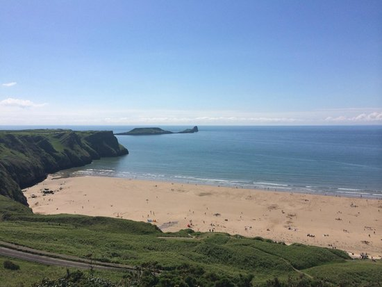 Rhossili Bay looking at Worms Head