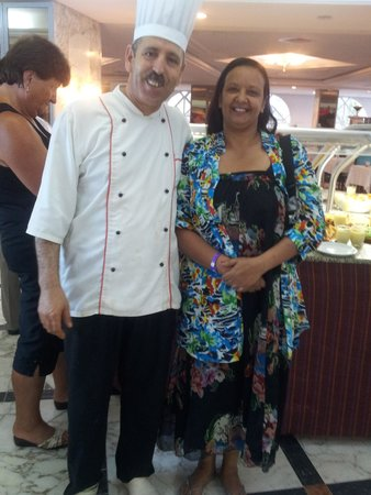 Riadh Palms Hotel: Picture with the chef