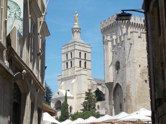 Cathedrale Notre-Dame des Doms: Вид на собор и Папский дворец