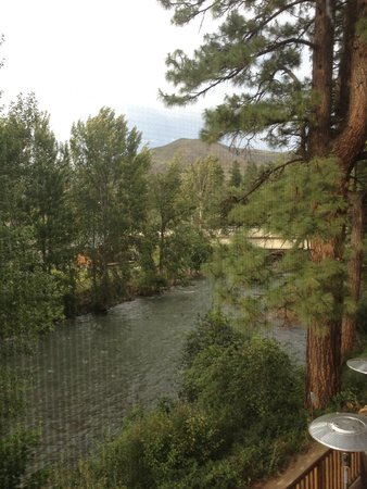 Twisp River Suites: nice river view from screened porch