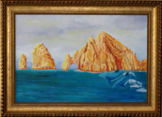 Villa del Arco Beach Resort & Spa: My painting of dophins and arch