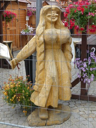 Old Town- Historic Center: Carved Wooden Figure