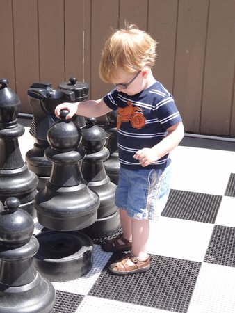 Royal Copenhagen Inn: Lifesize Chess and Checkers