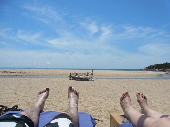 Domaine de Murtoli : The plage (déserte sur 3 km)